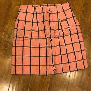 Plaid mini skirt pink